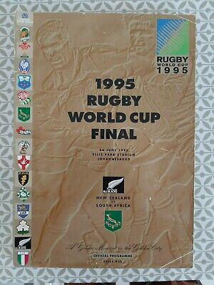 1995 Rugby World Cup Final Programme South Africa v. New Zealand