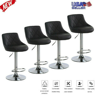 Fantastic Set Of 2 Bar Stools Vintage Pu Leather Counter Height Gmtry Best Dining Table And Chair Ideas Images Gmtryco