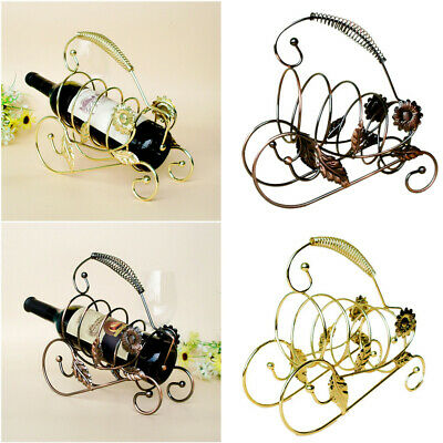 Metal Wine Bottle Rack Stand Holder Storage Wedding Party Decor Ornament Gifts