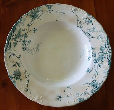 """Empire Porcelain Co."" Stoke On Trent England Antique Dinner Bowl , C1900 ."