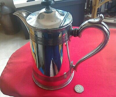 Antique silver plate coffee/hot water jug