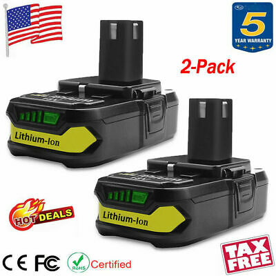 2X 4.0Ah 18V ONE PLUS Lithium-Ion Battery for RYOBI P108 P107 P105 High Capacity