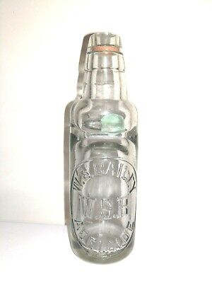 W.S.Bailey Adelaide Alley Marble Bottle In Excellent Condition 18cms High