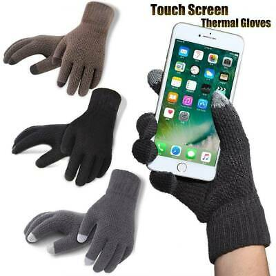 Smartphone Tablet Touchscreen Texting Warm Soft Winter Gloves Full-Finger Mitten