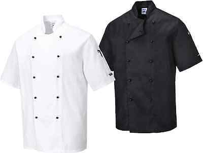 Portwest C734 Kent Men Chefs Jacket Polycotton Catering Restaurant Top Workwear