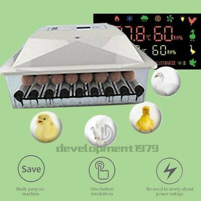 Automatic Incubator Hatcher Digital Display Automatic Turning Chicken 56 Eggs