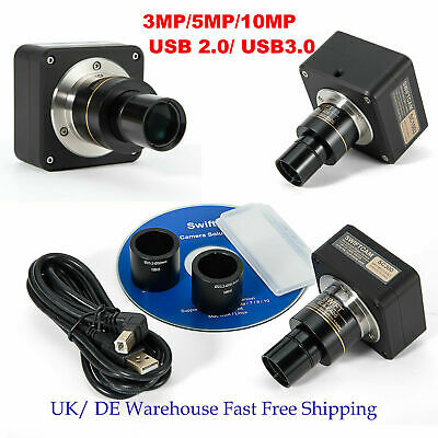 SWIFTCAM 3MP/5MP/10MP USB Digital Microscope Camera With Software+Reduction Lens