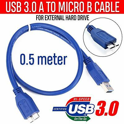 USB3.0 A To Micro B Cable For WD Seagate Toshiba Samsung External Hard Drive HDD