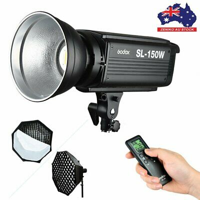 AU Godox SL-150W 5600K LED Video Light Lamp Bowens+95cm Grid Honeycomb Softbox