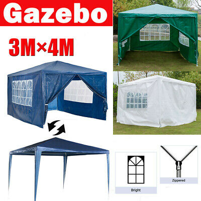 3*4M Gazebo Party Tent Outdoor PE Garden Marquee Canopy Awning Waterproof 3Color