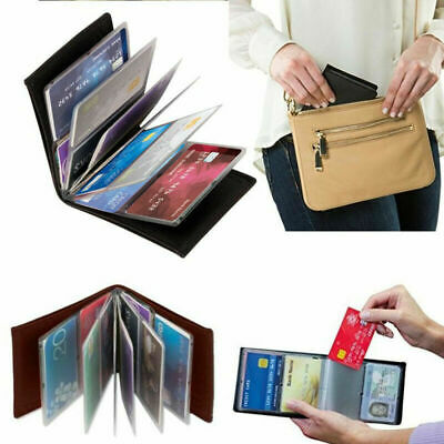 Amazing Slim RFID Wallets Black Leather New X4E7