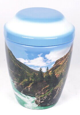 Mountain Scenery Large Urn For Ashes Cremation Urn Adult Memorial Urn REDUCED