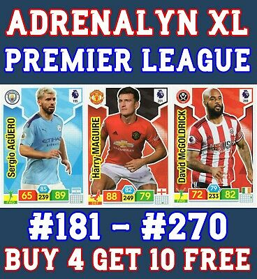 Panini Premier League Adrenalyn Xl 2019/20 Base Card 181 - 270 Buy 2 Get 10 Free