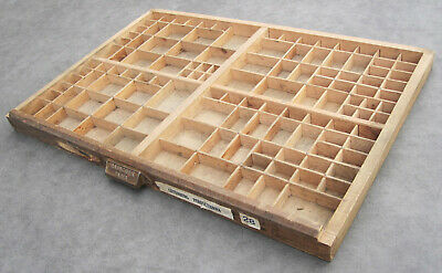Lovely vintage FRENCH PRINTERS TRAY - Old letterpress typesetter drawer display
