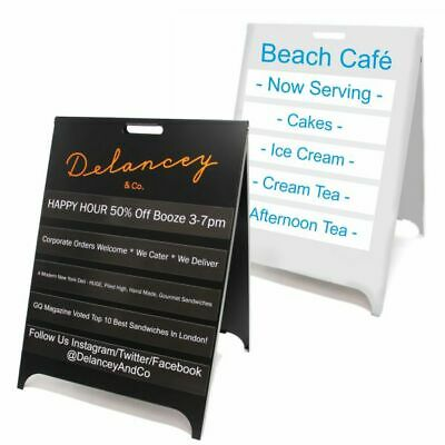 Personalised Magnetic Interchangeable A-Board. A Frame. Pavement Sign. Metal.