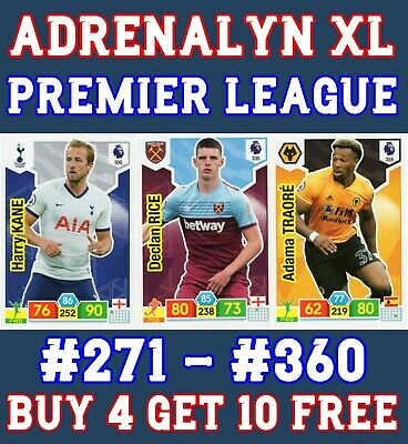 Panini Premier League Adrenalyn Xl 2019/20 Base Card 271 - 360 Buy 2 Get 10 Free