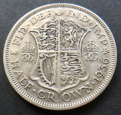 King George V 1936 Half Crown Coin .500 Silver Great Britain Uk