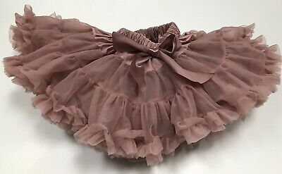 Baby Girl dusty pink tutu skirt infant party christmas