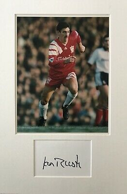 Ian Rush HAND SIGNED White Card & 10x8 Photograph LIVERPOOL Legend *In Person*