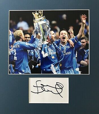 Frank Lampard HAND SIGNED White Card & 10x8 Photograph CHELSEA Legend *In Person