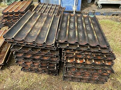 Lot of 101 Commercial Heavy Duty Baguette Oven Bakery Dough Muffin Pans Dirty