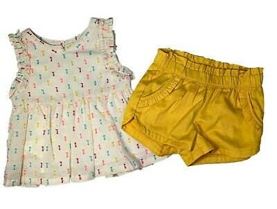 Genuine Kids Oshkosh B'gosh Baby Toddler Girls Dress and Shorts set, 18M