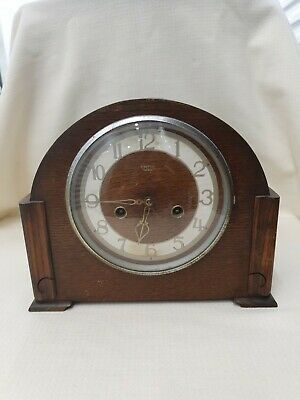 Smiths Enfield Vintage Wood Clocks Sold As Spares Or Parts (St)