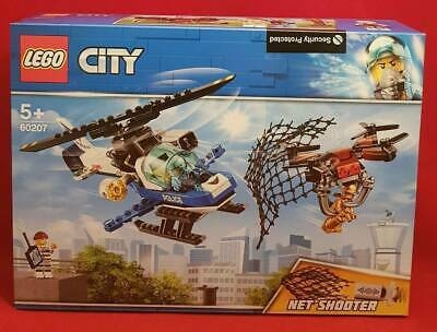 LEGO CITY 60207 SKY POLICE DRONE CHASE Officer Crook Helicopter Net Brick Set