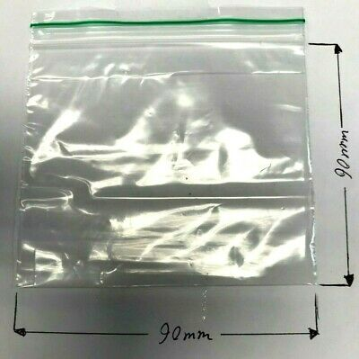 100 NEW 100 x 150 mm Small Clear Plastic Bags Baggy Grip Seal 100x150 Zip 10x15
