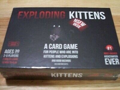 Brand New & Sealed Exploding Kittens Card Game NSFW Edition Adult