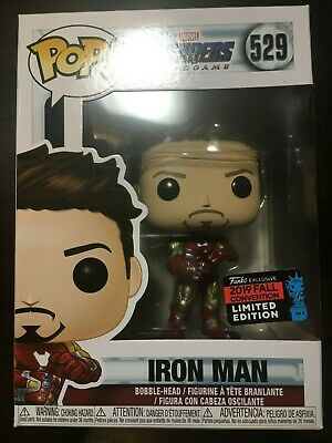 FUNKO POP AVENGERS ENDGAME: IRON MAN WITH GAUNTLET NYCC 2019 SHARED In Hand