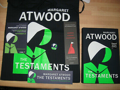 Margaret Atwood The Testaments Signed 1st/1st Booker Prize Winner 2019 + promos