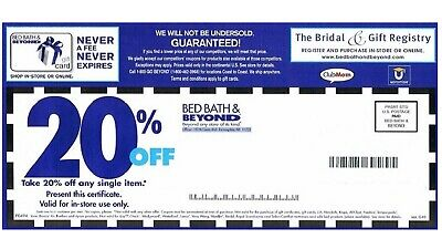 10 Bed Bath And Beyond 20% Off Coupons