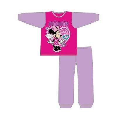 Girls Minnie Mouse Pyjamas Kids Character Nightwear PJs Pink Long Sleeves