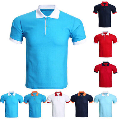 Fashion Mens Slim Fit Stylish Shirt Short Sleeve Casual T-shirt Tee Tops M-3XL