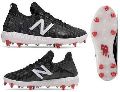 New Balance Baseball Low-Cut COMPv1 Comp Cleats Black/White -COMPBK1 9.5