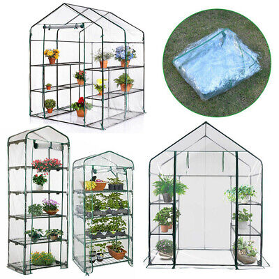 Outdoor Greenhouse Walk In Grow Bag Green House PVC Cover Plastic Garden