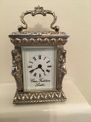 Charles Frodsham Limited Edition Carriage Clock Solid Silver