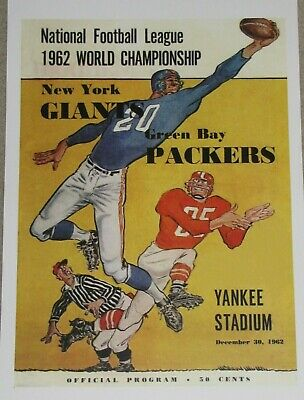 1962 NFL Championship Game Poster - Green Bay Packers vs. New York Giants