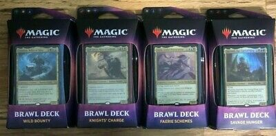 MTG Throne of Eldraine Brawl Decks - COMPLETE SET OF 4 NEW  SEALED MAGIC