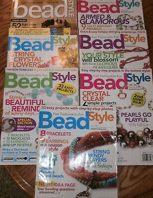 Bead Style Magazines , 2005, 2006, 2012, 7 Various Issues (BS05/06)