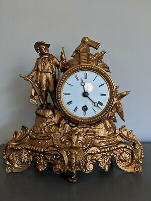 French Figural Gilt Clock