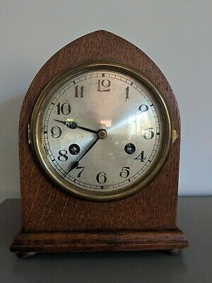 Antique striking mantle clock