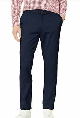 Tommy Hilfiger Mens' Tailored Fit Chino Pants - Navy Blazer 40x34