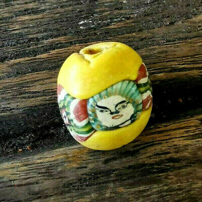 Old Mosaic Glass Phoenician Roman Protection Lucky Double Face talisman Bead