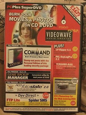 PC Plus Super DVD Videowave movie creator command antivirus PE