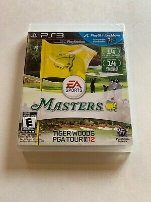Tiger Woods PGA Tour 12 Masters (Sony PlayStation 3, PS3) Game, Case, & Booklet
