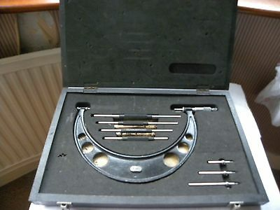 """VINTAGE BOXED MOORE & WRIGHT No 944 6-10"""" EXTERNAL MICROMETER"""