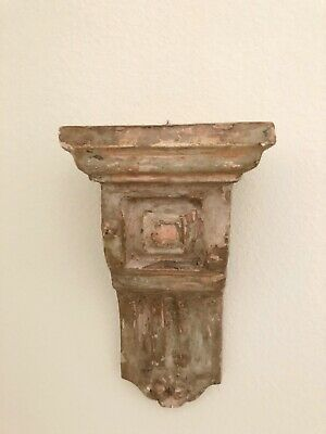 Vintage Plaster Corbel Architectural Salvage Wall Hanging Shelf Ledge Chippy