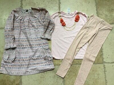 Tea collection leggings nwot 10, dress, and tee